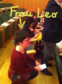 Die #bookup'er auf der Empore, betreut von Frau Leo