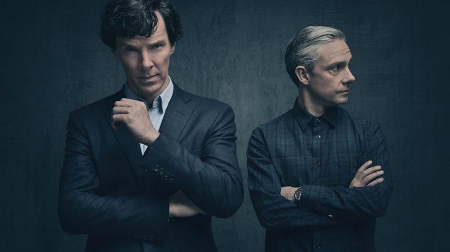 """Sherlock Holmes und Dr. John Watson in der 4. Staffel von """"Sherlock"""""""