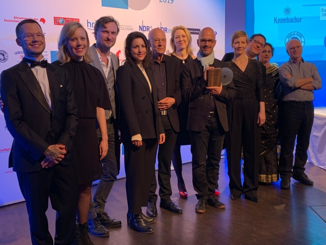 Deutscher Hörbuchpreis: Alle Preisträger beim Pressetermin auf der Bühne